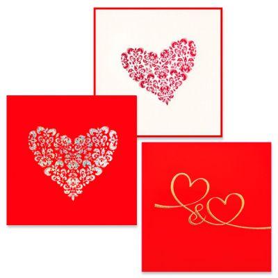 Set van 3 Valentijnswenskaarten