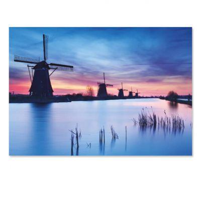 Toeristische ansichtkaart Kinderdijk molens, extra grote kaart