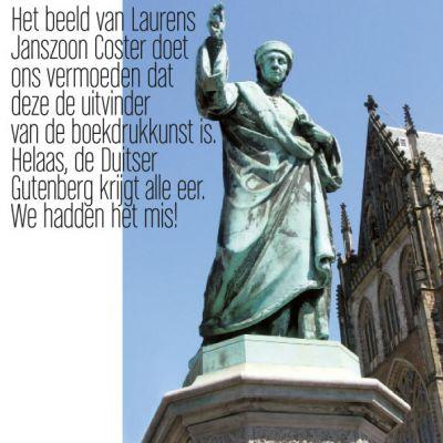 Wenskaart Haarlem | Beeld van Laurens Janszoon Coster