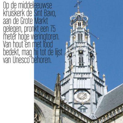 Wenskaart Haarlem | Vieringstoren in de zomer