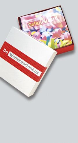Handige wenskaartenbox met 36 wenskaarten en enveloppen